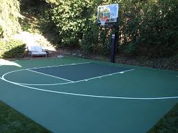 Exquisite Ideas How Much Does A Backyard Basketball Court Cost Backyard Tennis Court Cost