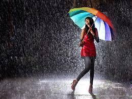 enjoying rain status