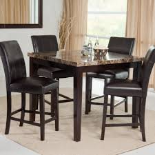 Unique Dining Table Sets Small Round Dining Table And Chairs Round Brown Wood Bar Height