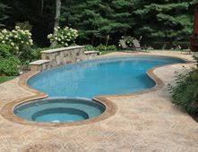 Stamped Concrete, Faux Stone Concrete Pool Decks ESPJ Construction Corp  Linden, NJ
