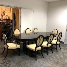 barbara barry furniture. Decoration: Oval Dining Table For 8 Modern Chairs Baker Set Of 9 In Barbara Barry Furniture