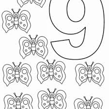 Small Picture Number Nine Coloring Pages Coloring Pages