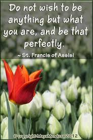 St Francis Quotes Unique Do Not Wish To Be Anything But What You Are And Be That Perfectly