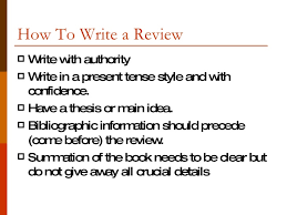 how to write a book report writing a book review