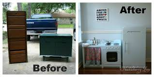 upcycled play kitchen