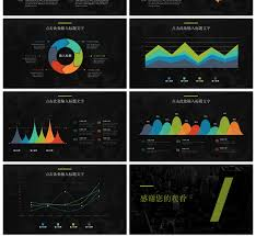 Awesome Black Cool City Business Information Chart Second