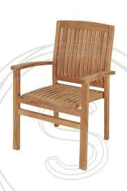 teak garden chair stacking