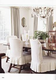 dining room slipcovered chairs