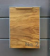 Modern wall mount mailbox Residential Building Wall Mounted Mailbox Modern Wall Mailbox Modern Mailbox Narrow Teak Wall Mounted Mailbox By Mid Century Revisiegroepinfo Wall Mounted Mailbox Modern Wall Mailbox Modern Mailbox Narrow Teak