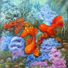 gold fish painting