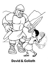 David And Goliath Coloring Pages To Download And Print For Free