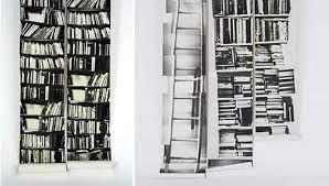 Fake Bookshelf Wallpaper