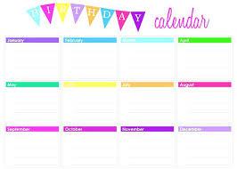 Perpetual Birthday Calendar Template Perpetual Calendar Template ...