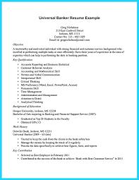 universal banker resume resume banker resume sample