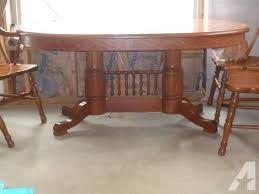 tell city dining table and 6 chairs. tell city kitchen/dining table and chairs - $800 dining 6