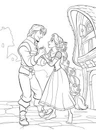 Small Picture Tangled Coloring Pages Couples Tangled Coloring Pages In Disney
