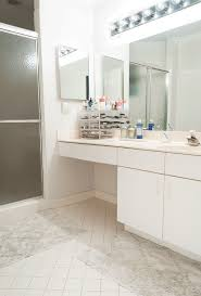 rental apartment bathroom ideas. A Boring Rental Bathroom Gets Totally Reversible Makeover Apartment Ideas
