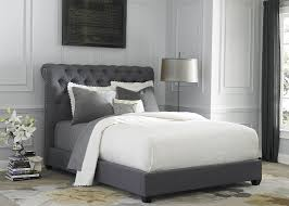 Confidential Gray Bedroom Sets Upholstered Set With Wood And Dark Diamond  ...