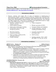 Resume Professional Summary Chemist Resumes Example Professional Biochemist Again Summary Is 58