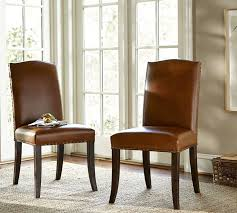 pottery barn parsons chair monumental staten leather side interior design 9