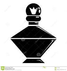 Queen Perfume Icon Simple Black Style Stock Vector Illustration