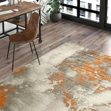light gray burnt orange area rug 8x10 design