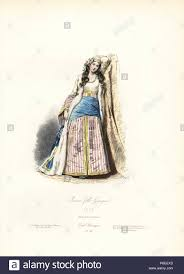 B Modern Costume Designer Greek Girl 1825 Handcoloured Steel Engraving By Polydor