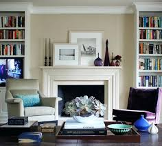fireplace mantels living room traditional beige walls bookcase bookshelves houzz stacked stone gas surrounds