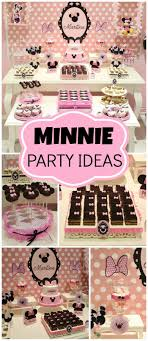 Pink And Black Minnie Mouse Decorations Mickey Mouse Minnie Mouse Baptism Minnie Mouse Party