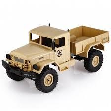 WPL B - 1 1:16 Mini Off-road RC Military Truck - RTR | Gearbest