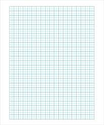 Free Download Graph Paper Squares Blue Downloadable Template