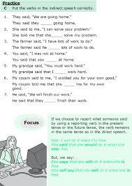 Good Grammar » Grade 6 Grammar Lesson 13 Direct and indirect speech