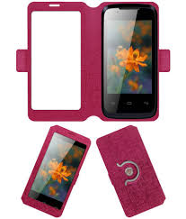 Lava Iris 356 Flip Cover by ACM - Pink ...