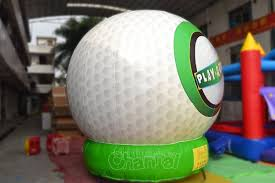 Golf Ball Decorations Large Inflatable Golf Ball Channal Inflatables 40