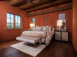 Master Bedroom Flooring Contemporary Master Bedroom With Ceiling Fan Exposed Beam In