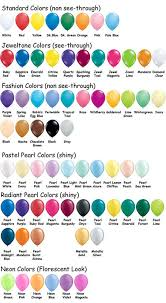 Balloon Color Chart Faq Color Charts Fun Balloons