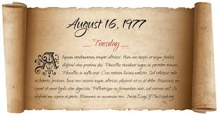 Image result for August 16, 1977