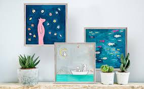 mini framed art on wall art prints framed with framed art prints mini wall art oopsy daisy fine art for kids