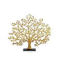 tree of life decorative fireplace screen antique goldtone