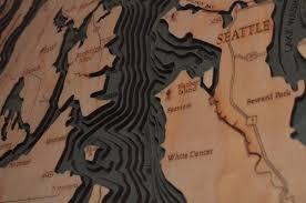 Wood Bathymetric Charts 3d Wood Maps Bella Maps