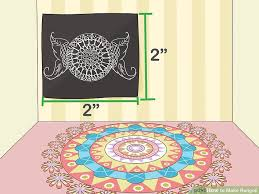 Chart Paper Flowers Step By Step How To Make Rangoli 11 Steps With Pictures Wikihow