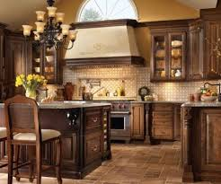 ... Kitchen Cabinets, Interesting Dark Brown Square Antique Stone And Wood Home  Depot Kitchen Cabinets Ornamental ...
