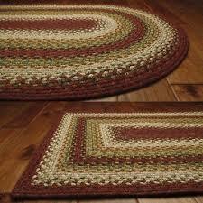 santa fe sunrise cotton braided area throw rugs oval and rectangle 20x30 8x10