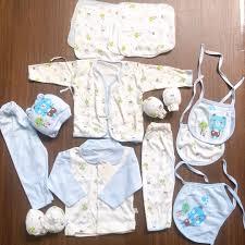 Set đồ sơ sinh mùa hè (vải mỏng) cao cấp 14 chi tiết cho bé trai
