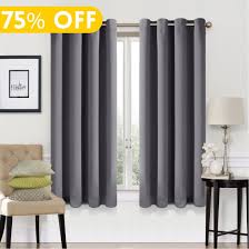 99 blackout window curtain panel grommet top ds 2 panel set room darkening thermal insulated blackout ds for bedroom w52 x l63 dark grey