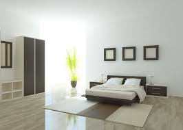 pictures simple bedroom: simple wood and white master bedroom with wood bed frame floating side tables and