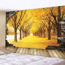 Fityle Polyester Tapestry Forest Wall Hanging Room Decor