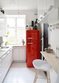 Kitchen: Black And White SMEG Decor - SMEG Fridges