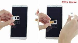 Huawei P Smart : How to insert sim and sd card in huawei P smart - YouTube