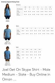 American Apparel Measurement Chart American Apparel Sizing Chart Womens Us Clothing Ne 00028 0
